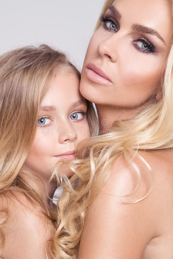 Beautiful naked mother daughter