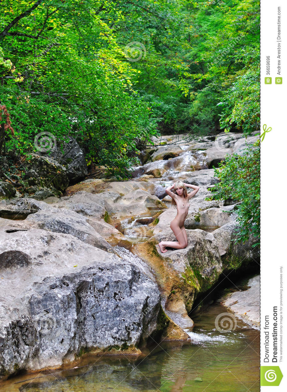 Naked by the stream